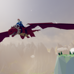 Ayre and Dragon flying